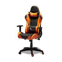 Černooranžová kancelářská židle Knuds Gaming