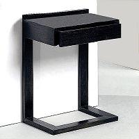 Černý dřevěný noční stolek Thai Natura Pulse