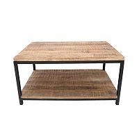 Černý konferenční stolek s deskou z mangového dřeva LABEL51 Vintage XL