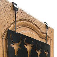 Černý nástěnný věšák na dveře se 4 háčky Compactor Ungulates