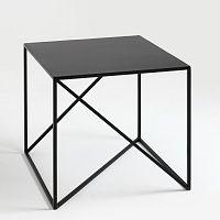 Černý odkládací stolek Custom Form Memo