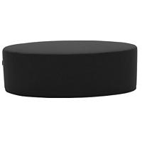 Černý puf Softline Bon-Bon Vision Black Grey, délka 60 cm