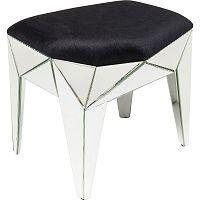 Černý stolek s detaily ve stříbrné barvě Kare Design Stool Fun House, 54x49cm