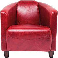 Červené křeslo Kare Design Cigar Lounge