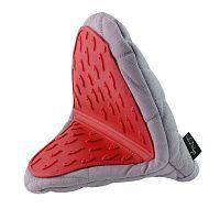 Červenošedá bavlněná chňapka se silikonem Vialli Design Hot Touch