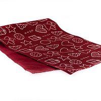 Červený běhoun Dakls, 40 x 120 cm