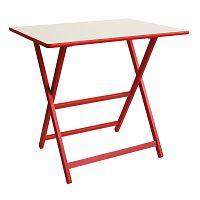 Červený dřevěný skládací stůl Valdomo Papillon, 60x80cm