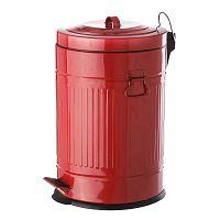 Červený kovový odpadkový koš Unimasa, 20 l