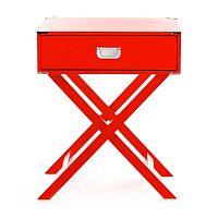 Červený noční stolek 360 Living Tisch Galery