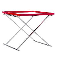 Červený odkládací stolek Design Twist Grivita