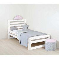 Dětská bílá dřevěná jednolůžková postel Benlemi DeLuxe, 180x90cm