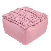 Dětský růžový sedací pufík Nattiot Neo