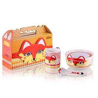 Dětský snídaňový set z kostního porcelánu Silly Design Fox