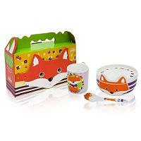 Dětský snídaňový set z kostního porcelánu Silly Design Happy Fryderyk