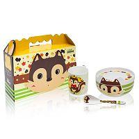 Dětský snídaňový set z kostního porcelánu Silly Design Happy Stuart