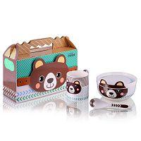 Dětský snídaňový set z kostního porcelánu Silly Design Teddy
