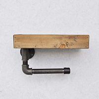 Dřevěná nástěnná polička s držákem na toaletní papír Confetti Bathmats Boru Raf