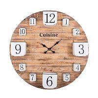 Dřevěné nástěnní hodiny s úložnými kalíšky Antic Line