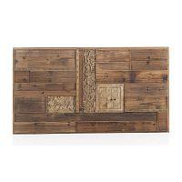 Dřevěné postelové čelo Geese Rustico, 60 x 110 cm