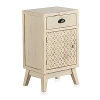 Dřevěný noční stolek se zásuvkou a dvířky Geese Lorelai