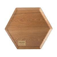 Dřevěný podnos ve tvaru šestiuhelníku Creative Tops, Ø36 cm