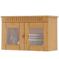 Dvoudveřová nástěnná vitrína z borovicového dřeva Støraa Candice