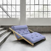 Dvoumístná variabilní lenoška Karup Figo Raw/Blue Breeze