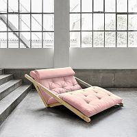 Dvoumístná variabilní lenoška Karup Figo Raw/Pink Peonie
