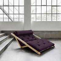 Dvoumístná variabilní lenoška Karup Figo Raw/Purple