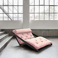 Dvoumístná variabilní lenoška Karup Figo Wenge/Pink Peonie