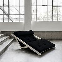 Dvoumístná variabilní lenoška Karup Figo White/Black