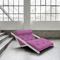 Dvoumístná variabilní lenoška Karup Figo White/Taffy Pink