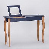 Grafitově šedý toaletní stolek se zrcadlem Ragaba Dressing Table,délka105cm