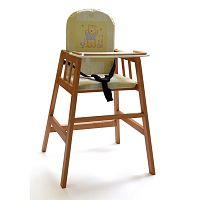 Hnědá dřevěná dětská jídelní židlička Faktum Abigel