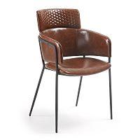 Hnědá jídelní židle La Forma Rhett