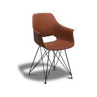 Hnědá jídelní židle s nohami z bukového dřeva Furnhouse Elvis