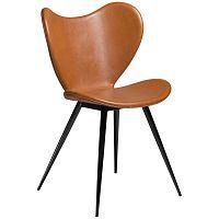 Hnědá koženková židle DAN-FORM Denmark Dreamer