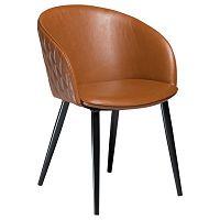 Hnědá koženková židle DAN-FORM Denmark Dual