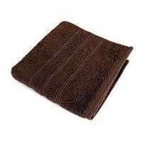 Hnědá osuška z česané bavlny Irya Home Classic, 70x130 cm