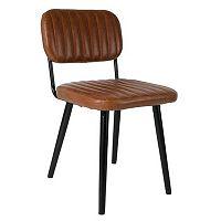 Hnědá židle White Label Jake Worn