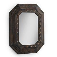 Hnědé nástěnné zrcadlo Geese, 70x90cm