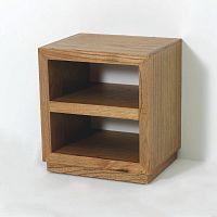 Hnědý dřevěný noční stolek Thai Natura Boxxy, 50 x 55 cm