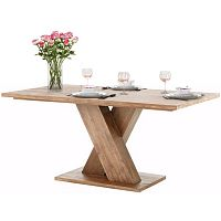 Hnědý jídelní stůl z masivního akáciového dřeva Støraa Cong, 1x2m