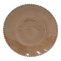Hnědý kameninový servírovací talíř Costa Nova Pearl, ⌀33cm