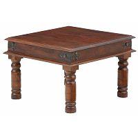 Hnědý konferenční stolek Støraa Malika, 60x60cm