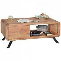 Hnědý konferenční stolek z masivního akáciového dřeva Skyport BOHA