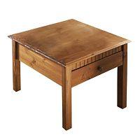 Hnědý konferenční stolek z masivního borovicového dřeva  Støraa Linda