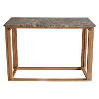 Hnědý mramorový konzolový stolek s podnožím z dubového dřeva RGE Accent, šířka100cm