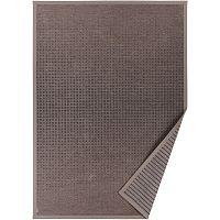Hnědý vzorovaný oboustranný koberec Narma Helme, 140x200cm