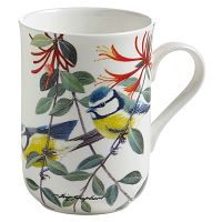 Hrnek z kostního porcelánu Maxwell & Williams Birds Chickadees, 350 ml